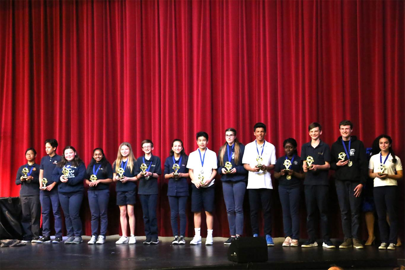 Grade 8 finalists. Photo by Marla Ellis